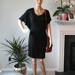 Ella Moss black midi dress with sleeves